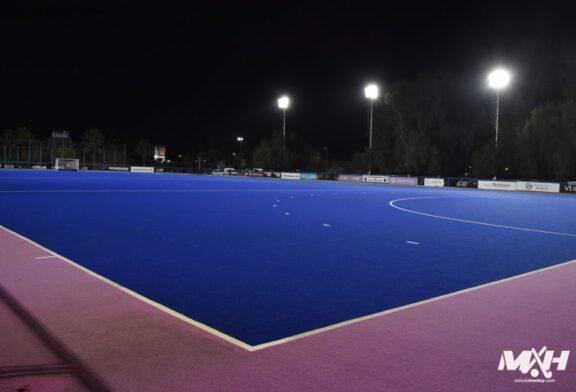 Un estadio con todas las luces